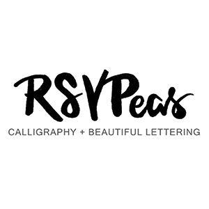 RSVPeas Calligraphy   www.rsvpeas.com  (314) 705-5110