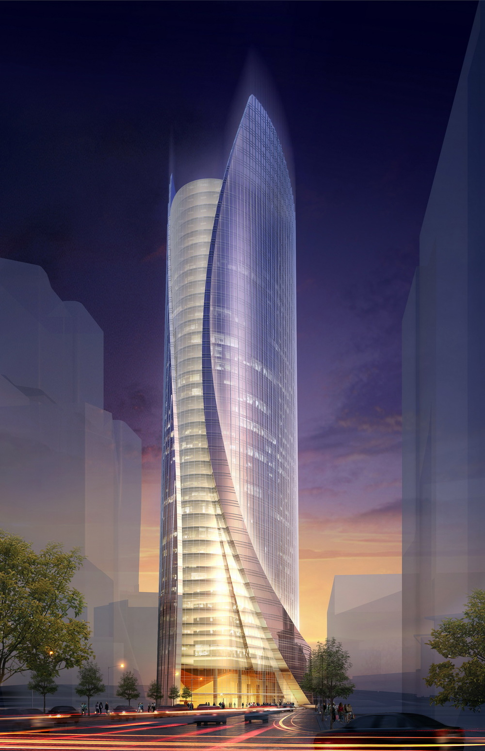 WP-B2: Office Tower Dusk