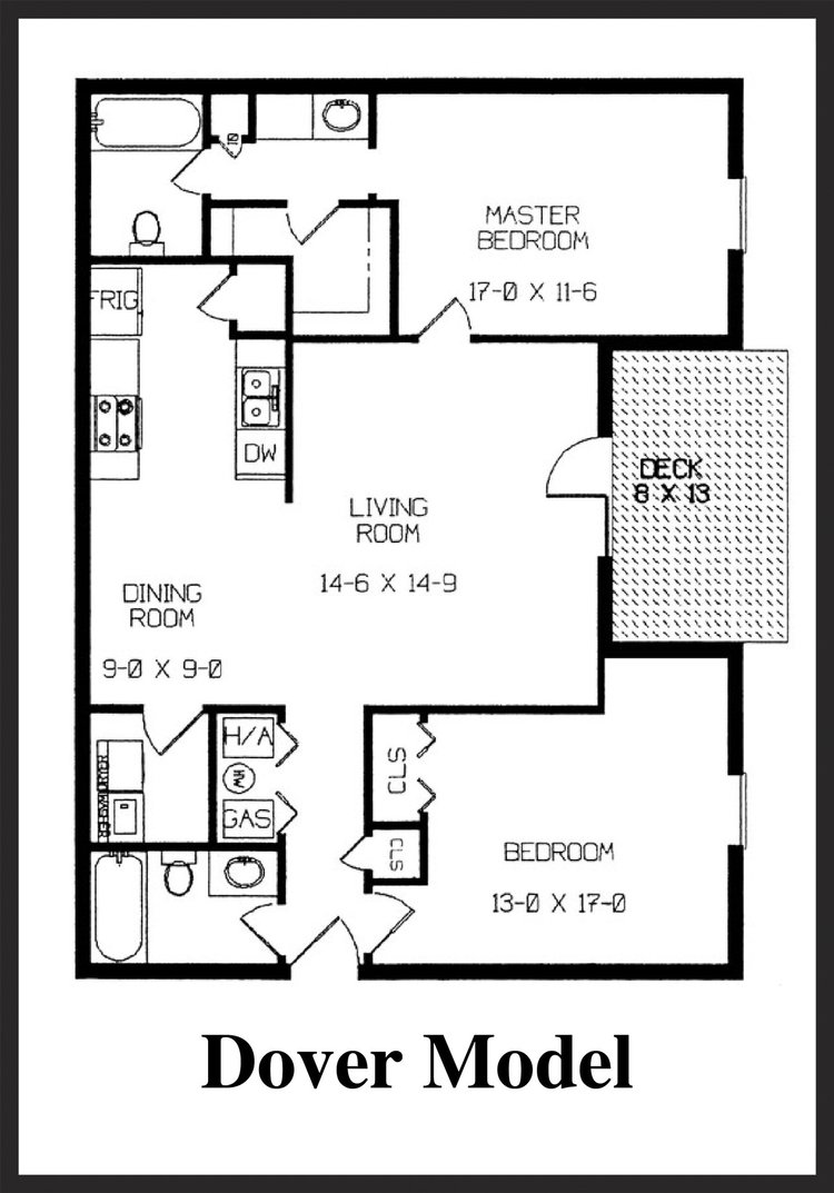 Fox Lake Apartment Homes - Dover Floorplan