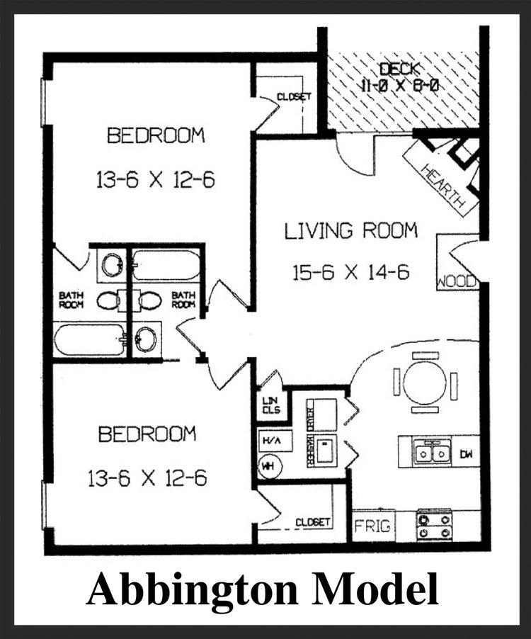 Fox Lake Apartment Homes - Abbington Floorplan