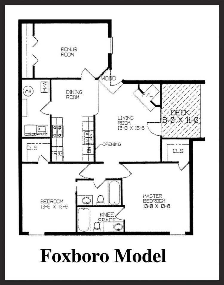 Fox Lake Apartment Homes - Foxboro Floorplan