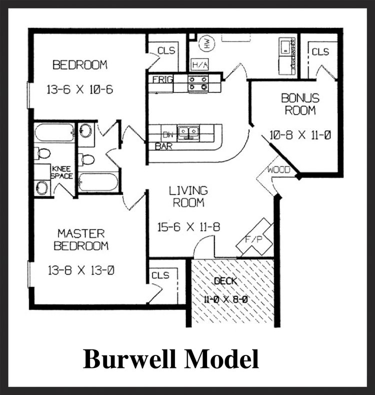 Fox Lake Apartment Homes - Burwell Floorplan