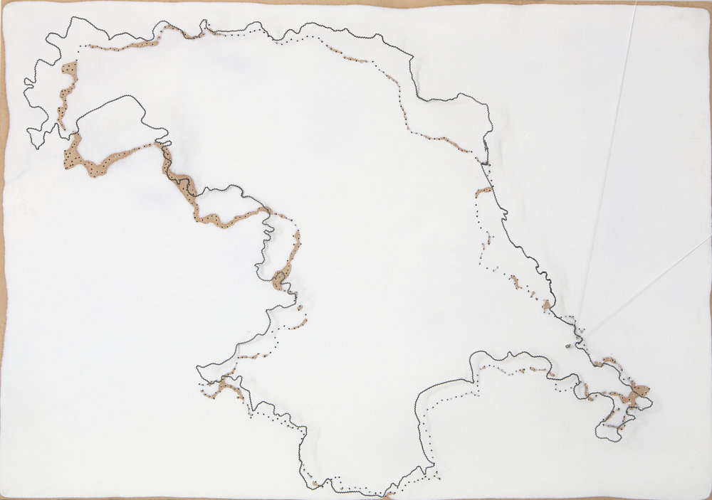 """ISLA HORNOS , 2016.  madera, alambre torcido, hilo y pieza de plata, 40 x 60 cm.                      Normal   0       21       false   false   false     ES-TRAD   JA   X-NONE                                                                                                                                                                                                                                                                                                                                                                              /* Style Definitions */ table.MsoNormalTable {mso-style-name:""""Tabla normal""""; mso-tstyle-rowband-size:0; mso-tstyle-colband-size:0; mso-style-noshow:yes; mso-style-priority:99; mso-style-parent:""""""""; mso-padding-alt:0cm 5.4pt 0cm 5.4pt; mso-para-margin:0cm; mso-para-margin-bottom:.0001pt; mso-pagination:widow-orphan; font-size:12.0pt; font-family:Cambria; mso-ascii-font-family:Cambria; mso-ascii-theme-font:minor-latin; mso-hansi-font-family:Cambria; mso-hansi-theme-font:minor-latin;}           Horn Island, 2016. Wood , twisted wire, string and pieces of silver. 40 x 60 cm"""
