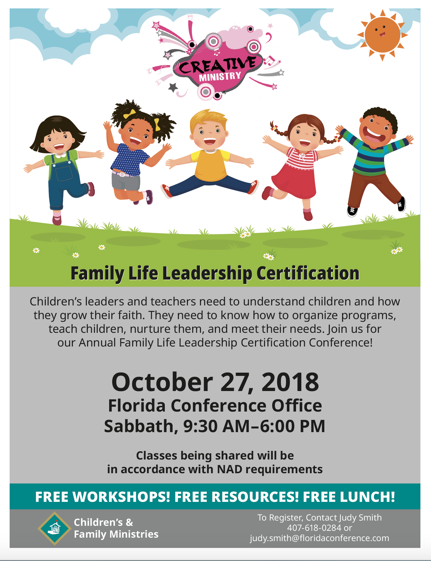 Florida Conference Leadership Certification Childrens Ministries