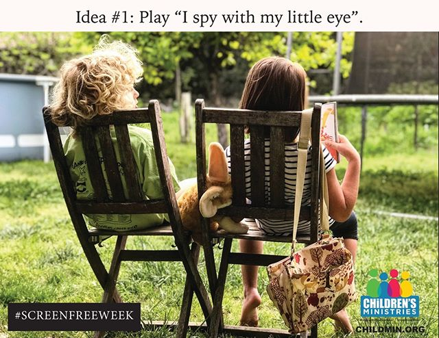 #SCREENFREEWEEK is April 29-May 5th. Are you ready? Here's an idea you can do with your kiddos! Look out for more great ideas!