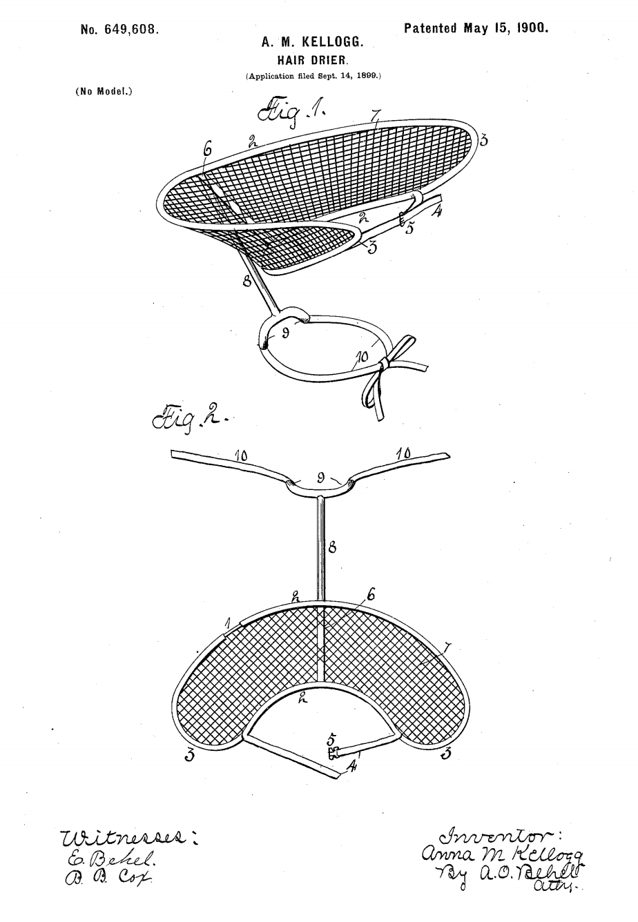 U.S. Patent US649608 A, filed 1899