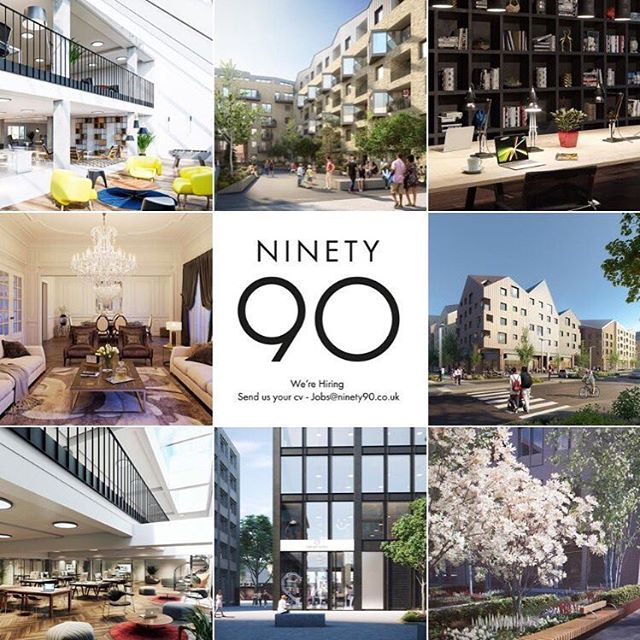 WE ARE HIRING!! Experienced creative visualisers at our London based studio send us your portfolio and cv to jobs@ninety90.co.uk #jobs #visualisation #shoreditch #london #creative #architecture