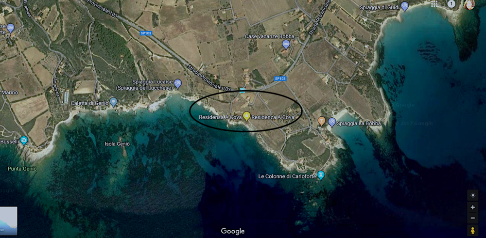 3 pedestrian access to the sea:    2 min_ The flat rock    7 min_ Lucaise Beach    12 min_ La Bobba Beach