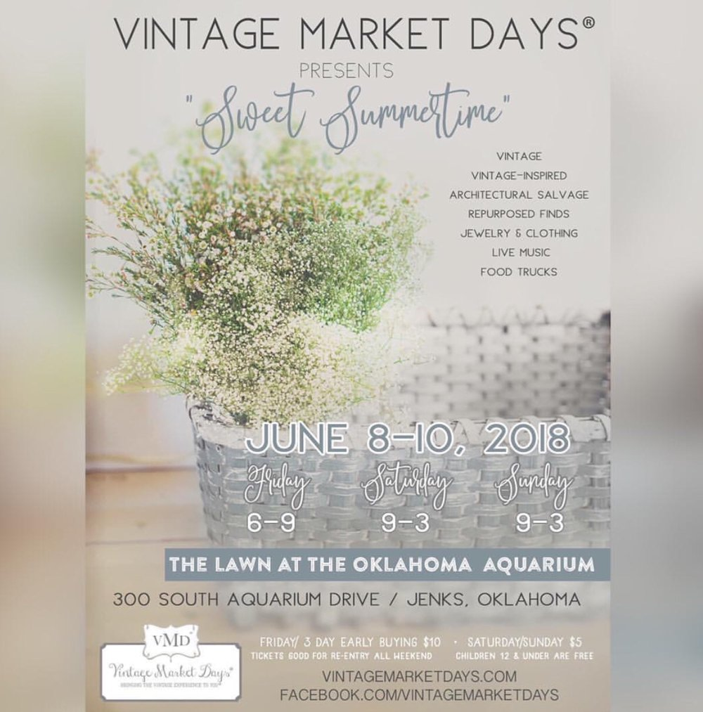 Come see Love & Fig at Vintage Market Days in Tulsa, OK — Love & Fig