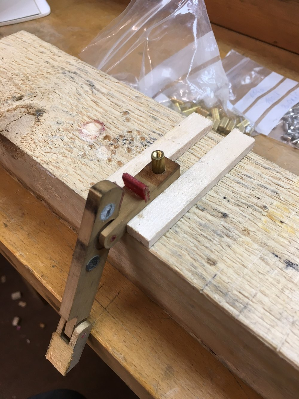 The damper levers are being converted to the modern Steinway design by having inserts fitted; a fiddly job but worth doing!