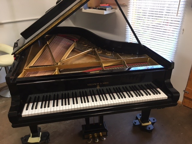 Completed piano in workshop