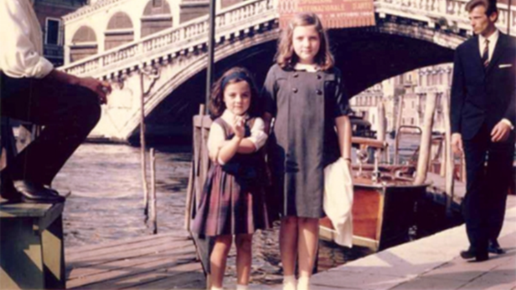 Childhood memories of Venice Sisters in front of Rialto 1962