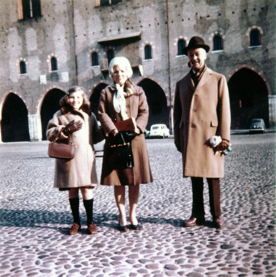 Me, mom and Dad in Italy, 1963