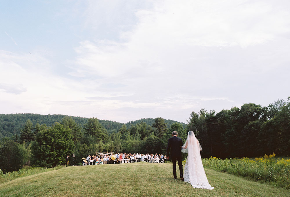 hilltop ceremony in New Hampshire