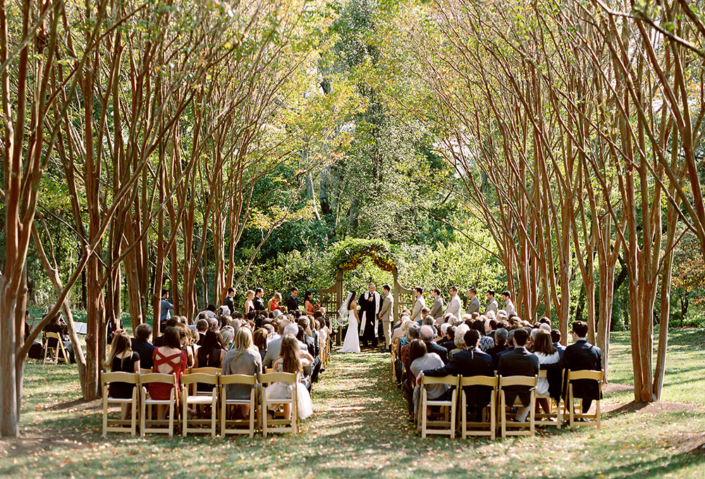 outdoor plantation ceremony site