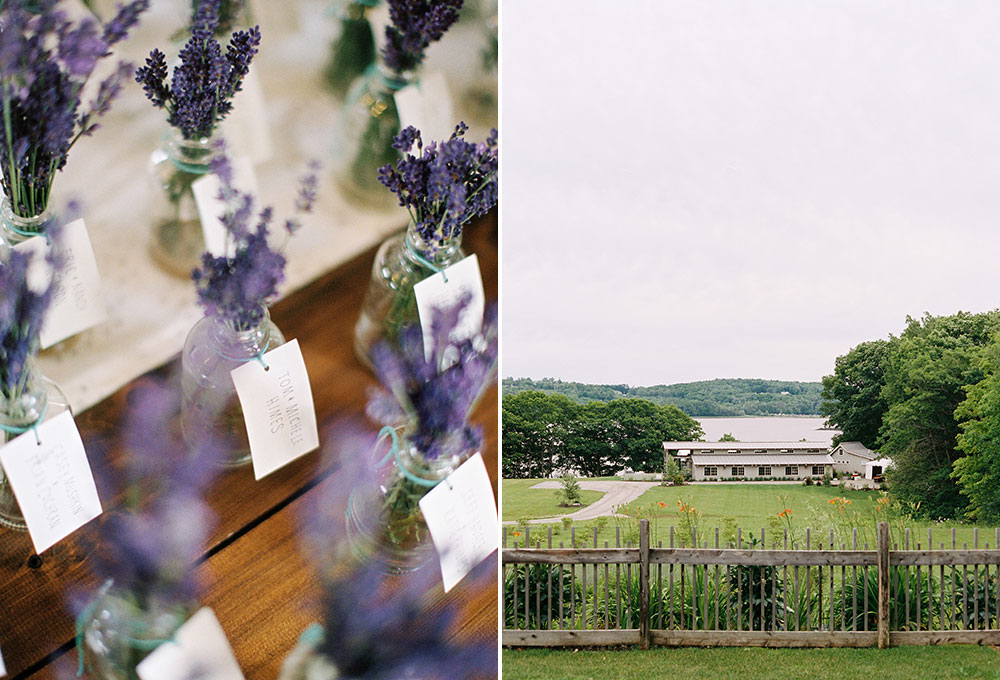 lavender wedding favors for farm wedding