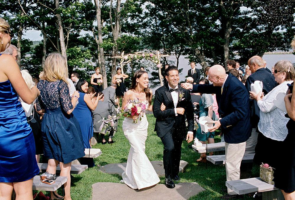 lavender exit after ceremony concludes