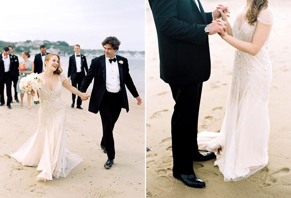 Chatham Bars Inn bridal party photos on beach