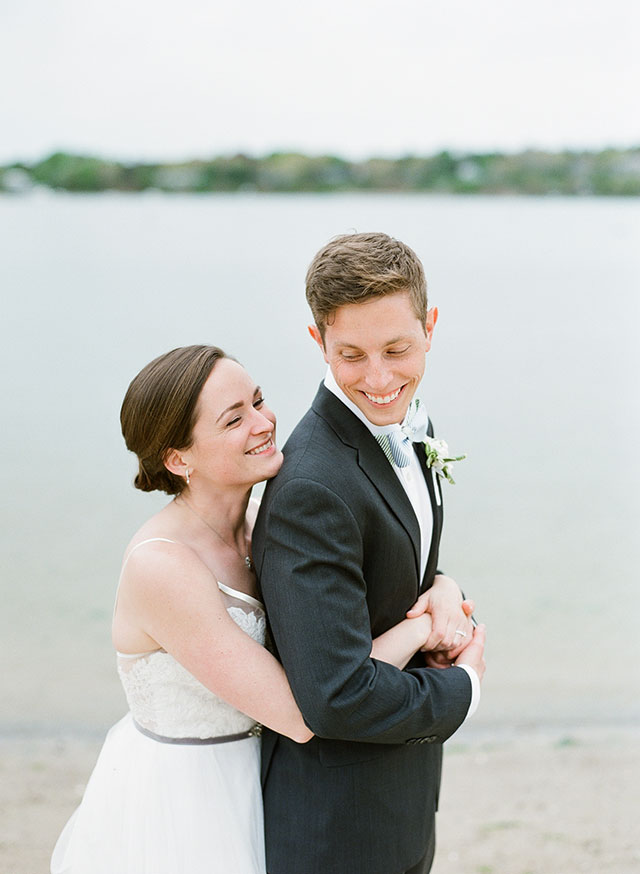 Oyster Harbors Club wedding portraits on film - Sarah Der Photography