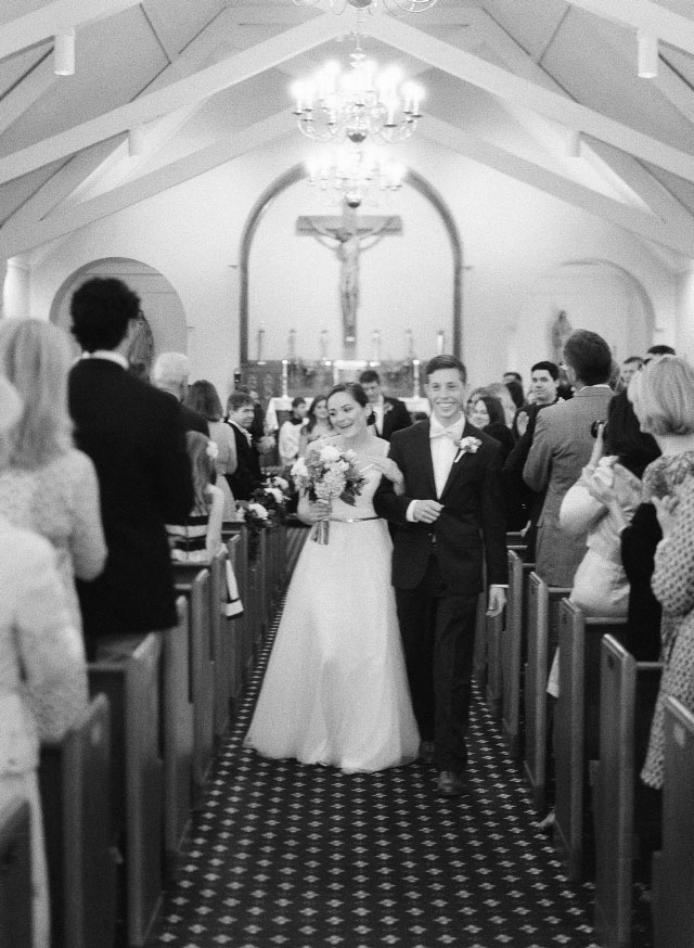 ali and mike are married in a church - Sarah Der Photography