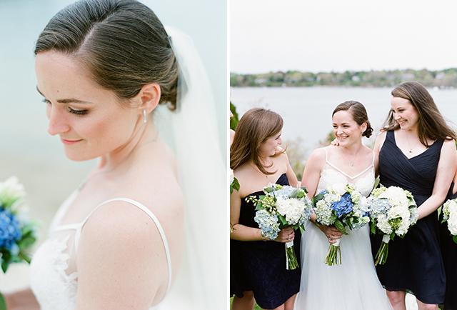 bridal portraits on the beach on Cape Cod - Sarah Der Photography