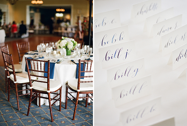 Dancing Ink Calligraphy custom table settings - Sarah Der Photography