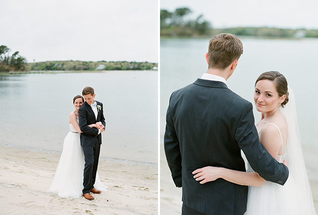 film portraits on the beach on cape cod in Osterville, MA - Sarah Der Photography