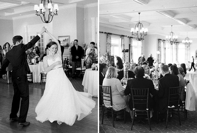 beautiful indoor shots of bride and groom dancing - Sarah Der Photography