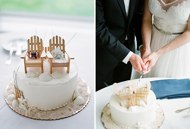 wedding cake by Casual Gourmet and Oyster Harbors Club - Sarah Der Photography