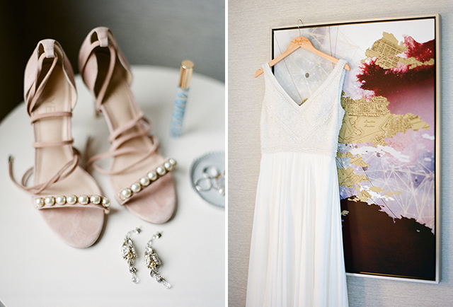 park plaza bridal prep for wedding - Sarah Der Photography