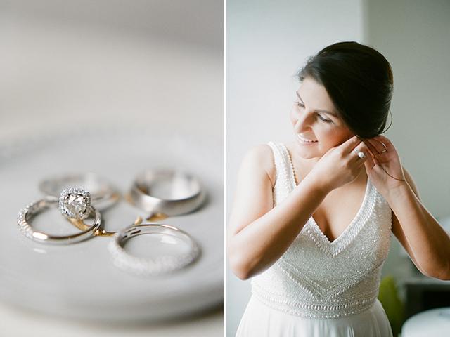 park plaza hotel wedding prep in bridal suite - Sarah Der Photography