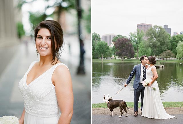wedding portraits at the Boston Public Garden - Sarah Der Photography