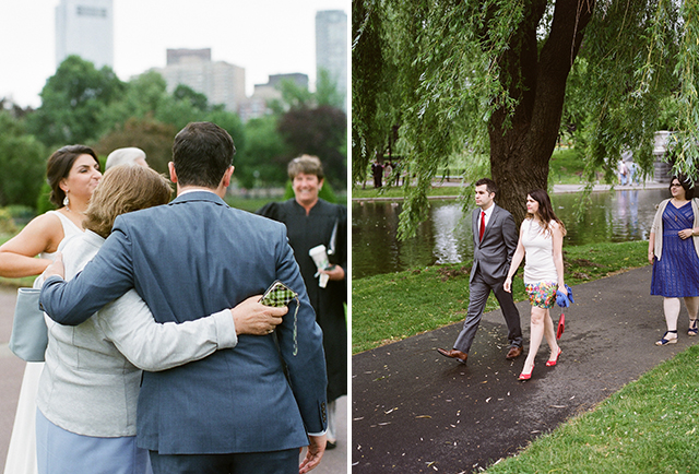 intimate wedding in the public garden in back bay boston - Sarah Der Photography