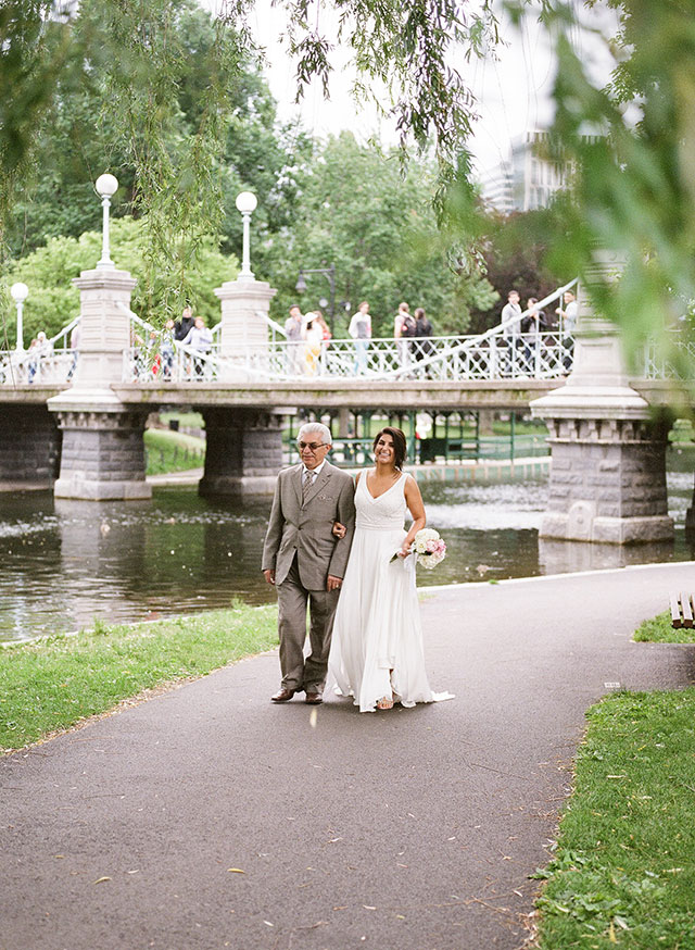 wedding ceremony by the charles river in boston - Sarah Der Photography