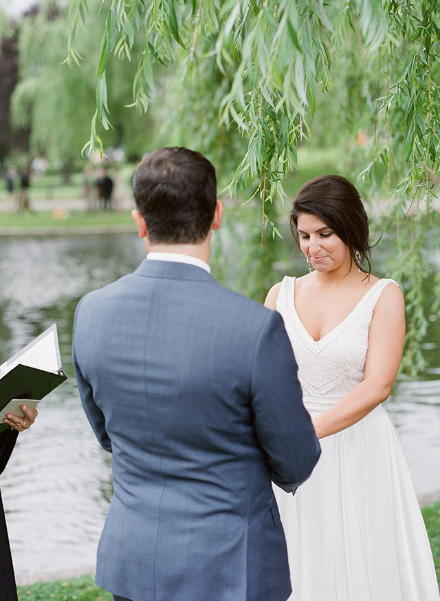 waterside ceremony in Boston - Sarah Der Photography