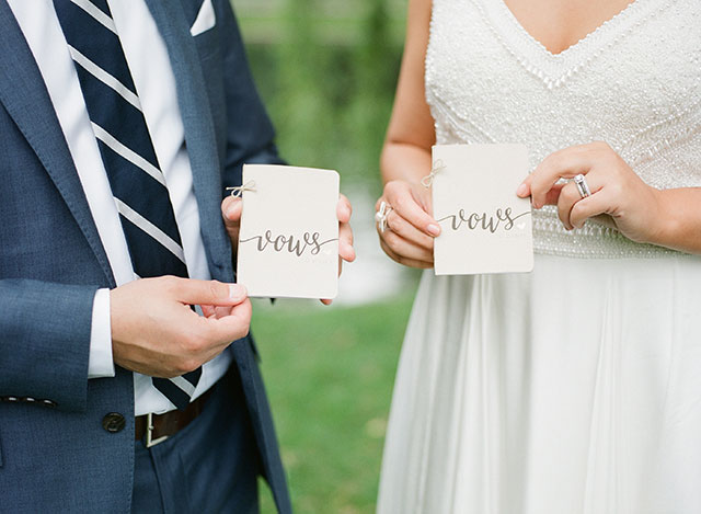 custom vow books on Etsy - Sarah Der Photography
