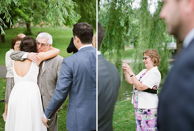 bride's father cries during wedding vows - Sarah Der Photography