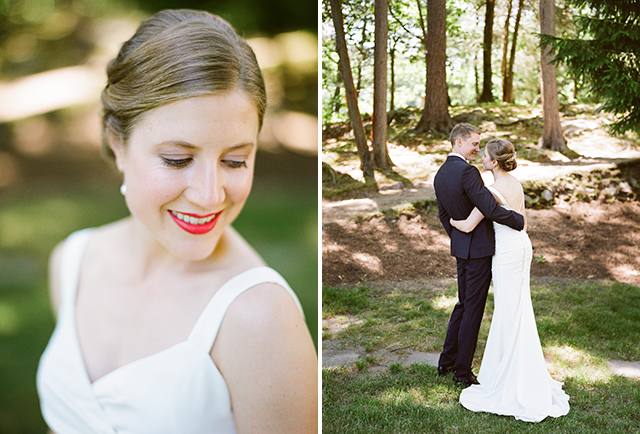 red lipstick on your wedding day - Sarah Der Photography