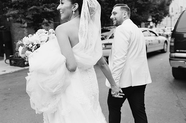 Urban wedding portraits in downtown NYC - Sarah Der Photography
