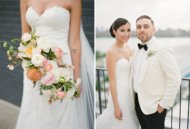 Ava Flora floral design for bride's bouquet at downtown brooklyn wedding - Sarah Der Photography