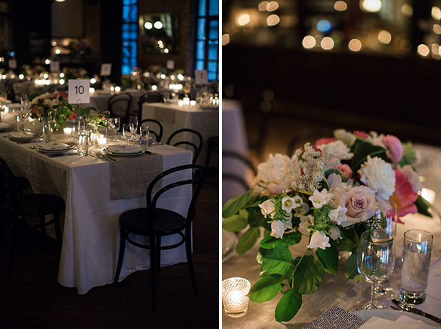 Candlelit family style dinner at the Wythe Hotel - Sarah Der Photography