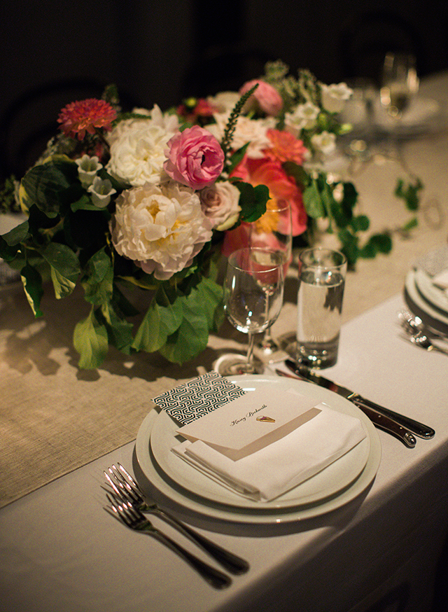DIY Place settings by groom - Sarah Der Photography