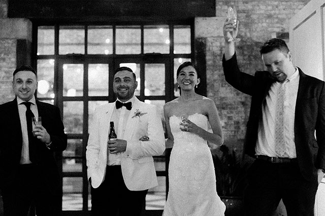 Funny and heartfelt toasts - Sarah Der Photography