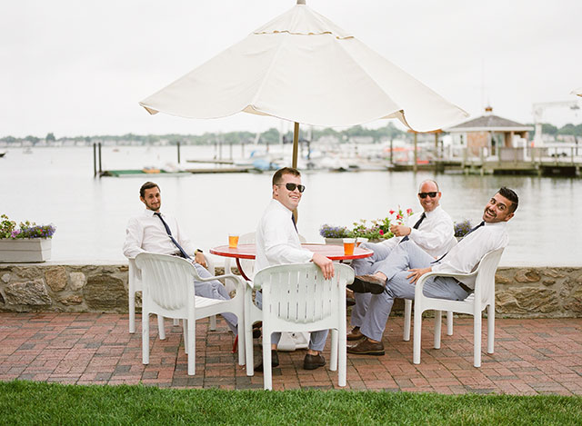 casual groomsmen attire by Banana Republic - Sarah Der Photography