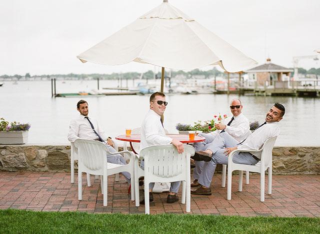 casual groomsmen attire by Banana Republic - Sarah Der Photography
