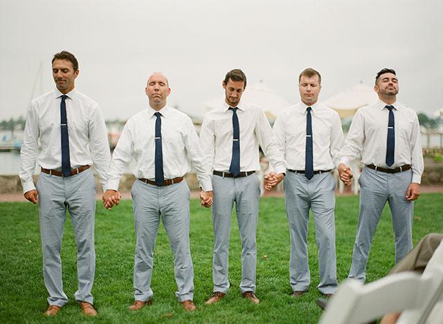 the tie bar groomsmen ties - Sarah Der Photography