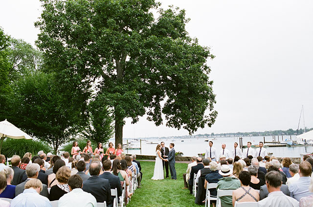 elegant outdoor wedding ceremony - Sarah Der Photography