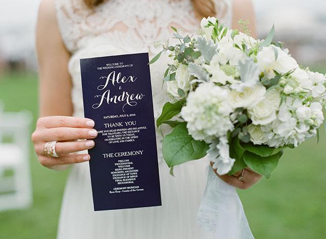 DIY wedding programs - Sarah Der Photography