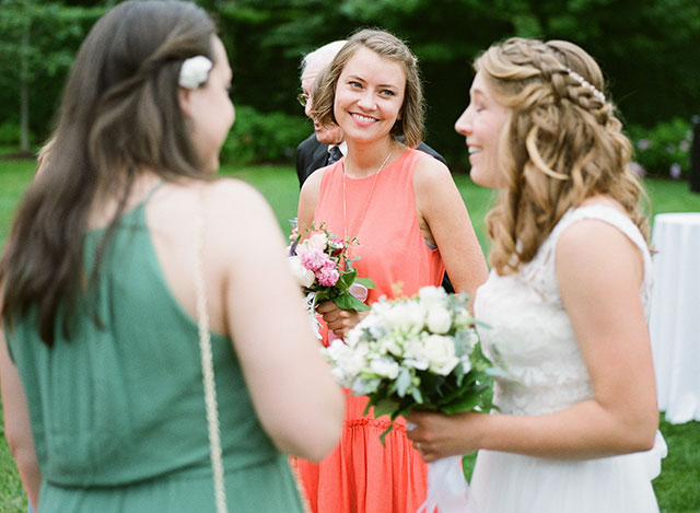 bridesmaid looks proudly at bride - Sarah Der Photography