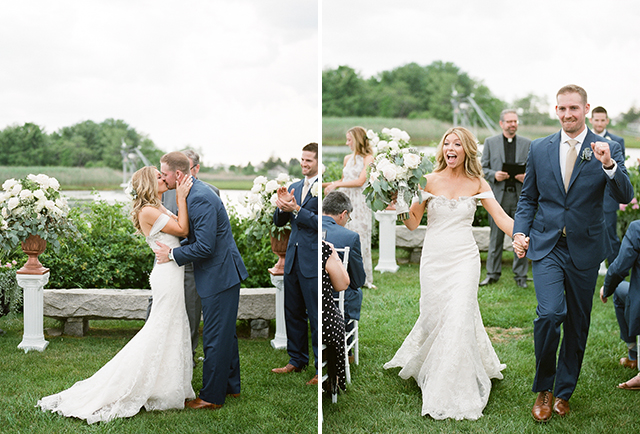 bride and groom kiss  - Sarah Der Photography